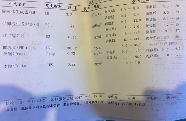性激素6项检查需空腹